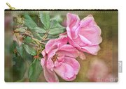 Two Pink Roses II Blank Greeting Card Carry-all Pouch