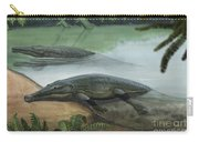 Two Prehistoric Platyoposaurus Carry-all Pouch