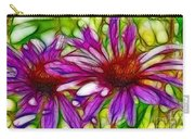 Two Purple Daisy's Fractal Carry-all Pouch