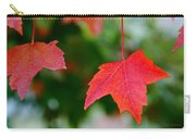 Two Red Maple Leaves Carry-all Pouch