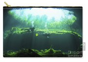 Two Scuba Divers In The Cenote System Carry-all Pouch by Karen Doody