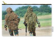 Two Snipers Of The Belgian Army Dressed Carry-all Pouch