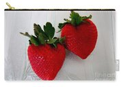 Two Strawberries On A Glass Plate Carry-all Pouch