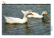 Two White Ducks Carry-all Pouch