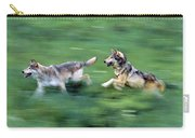 Two Wolves Running Through Meadow Carry-all Pouch