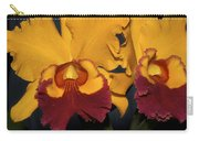 Two Yellow And Red Orchids Carry-all Pouch