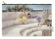 Under The Roof Of Blue Ionian Weather Carry-all Pouch by Sir Lawrence Alma-Tadema