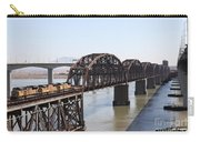 Union Pacific Locomotive Trains Riding Atop The Old Benicia-martinez Train Bridge . 5d18849 Carry-all Pouch