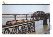 Union Pacific Locomotive Trains Riding Atop The Old Benicia-martinez Train Bridge . 5d18850 Carry-all Pouch