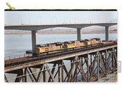 Union Pacific Locomotive Trains Riding Atop The Old Benicia-martinez Train Bridge . 5d18851 Carry-all Pouch