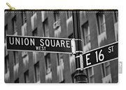 Union Square West Carry-all Pouch by Susan Candelario