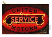 United Motors Service Neon Sign Carry-all Pouch