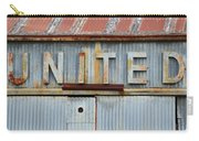 United Rusted Metal Sign Carry-all Pouch