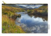 Upstream To The Bridge Carry-all Pouch by John Kelly