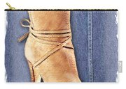 Urban Cowgirl Suede Boots Carry-all Pouch