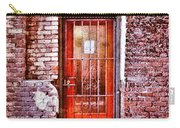 Urban Door In Old Brick Building Carry-all Pouch