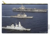 U.s. And French Navy Ships Transit Carry-all Pouch
