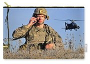 U.s. Army Captain Directs An Ah-64 Carry-all Pouch