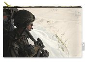 U.s. Army Captain Looks Out The Door Carry-all Pouch