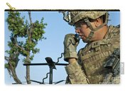U.s. Army Soldier Calls For Indirect Carry-all Pouch