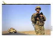 U.s. Army Soldier On Patrol Carry-all Pouch