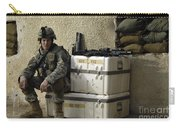U.s. Army Soldier Relaxing Before Going Carry-all Pouch