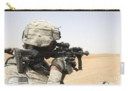 U.s. Army Soldier Scans The Horizon Carry-all Pouch by Stocktrek Images
