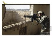 U.s. Army Soldier Searching Carry-all Pouch by Stocktrek Images