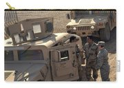 U.s. Army Soldier Speaks With Iraqi Carry-all Pouch by Stocktrek Images