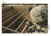 U.s. Army Soldier Takes A Gps Grid Carry-all Pouch by Stocktrek Images
