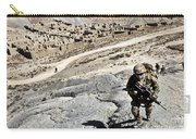 U.s. Army Soldiers And Afghan Border Carry-all Pouch