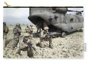U.s. Army Soldiers Board A Ch-47 Carry-all Pouch