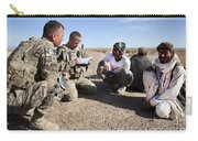 U.s. Army Soldiers Speak With Elders Carry-all Pouch