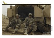 U.s. Army Soldiers Waiting At Patrol Carry-all Pouch