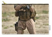 U.s. Contractor Firing A M4 Carbine Carry-all Pouch