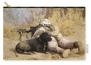 U.s. Marine And A Military Working Dog Carry-all Pouch