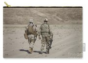 U.s. Marine And German Soldier Walk Carry-all Pouch