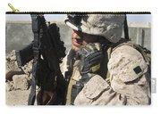 U.s. Marine Communicates With Fellow Carry-all Pouch