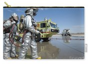 U.s. Marine Firefighters Stand Ready Carry-all Pouch