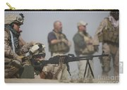 U.s. Marine Firing A Pk 7.62mm Machine Carry-all Pouch by Terry Moore
