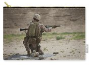 U.s. Marine Prepares A Fragmentation Carry-all Pouch