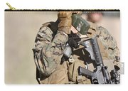U.s. Marine Radios His Units Movements Carry-all Pouch by Stocktrek Images