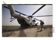 U.s. Marines Board A Ch-53d Sea Carry-all Pouch