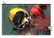U.s. Navy Diver Is Lowered Carry-all Pouch by Stocktrek Images