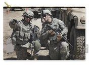 U.s. Soldiers Coordinate Security Carry-all Pouch by Stocktrek Images