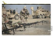 U.s. Soldiers Prepare To Fire Weapons Carry-all Pouch by Terry Moore