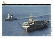 Uss Abraham Lincoln And French Navy Carry-all Pouch
