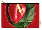Valentine's Day Red Anthurium Carry-all Pouch