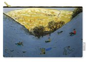 Valley And Sunlit Hillside Carry-all Pouch