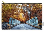 Valley Green Road Bridge In Autumn Carry-all Pouch by Bill Cannon
